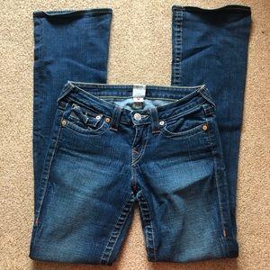 True religion boot cut low rise jeans